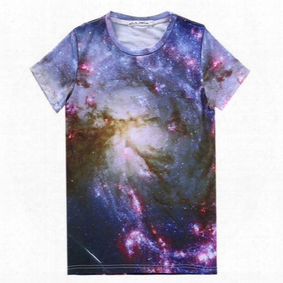 Tshirt Stars Galaxy T Shirt Men/women Casual Short Sleeve 3d Print T-shirt Milky Way Tshirt Tops Tees A66
