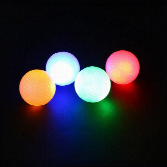 Wholesale- 2pcs Night Tracker Flashing Light Glow Golf Balls Led Electronic Golfing