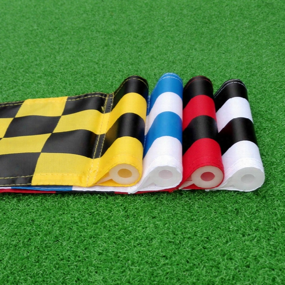 Wholesale- 9 Pcs Assored Color And Size 51 X 36 Cm Golf Tube Flags