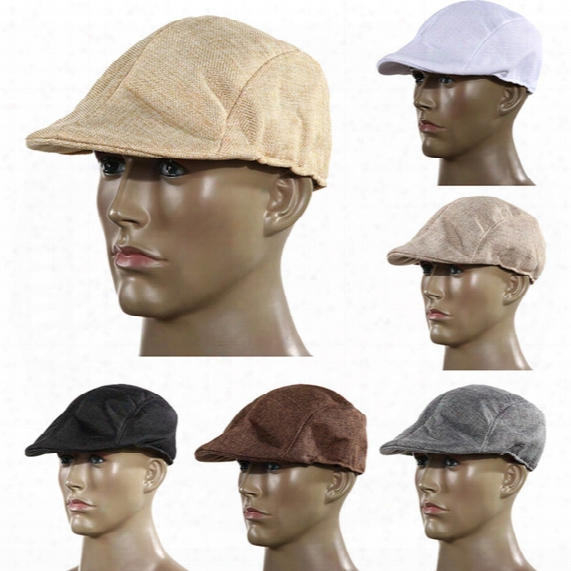 Wholesale-autumn And Winter Fashion Mens Vintage Flat Cap Peaked Racing Hat Beret Country Golf Newsboy H1e1