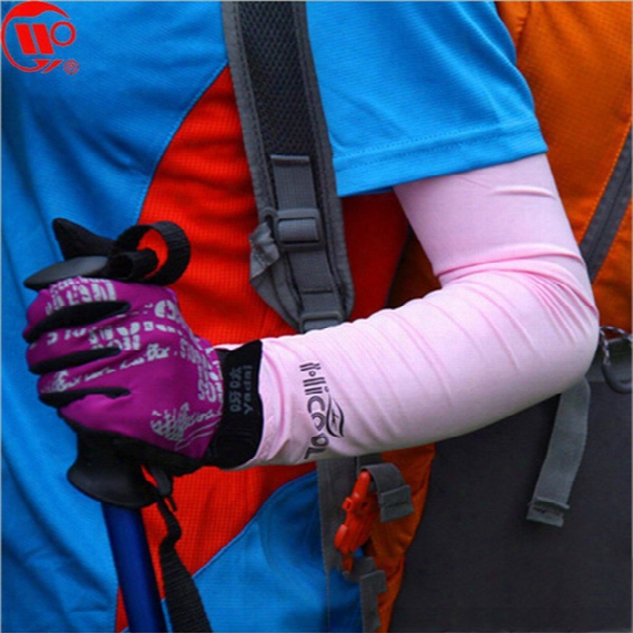 Wholesale-free Shipping 125 Hicool Sunscreen Golf Cuff Sports Arm Sleeve Sun Protection Uv Protector Sports Sleeve 10pcs/lot