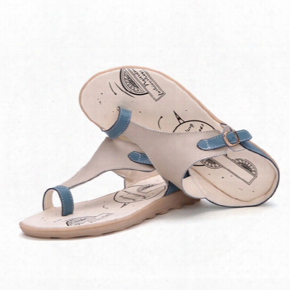 Wholesale-genuine Flip Flops Women Sandals Leathdr Women Flats Shoes Brand Summer Slippers 2016 Ladies Sandals Leisure Shoes Woman 1101