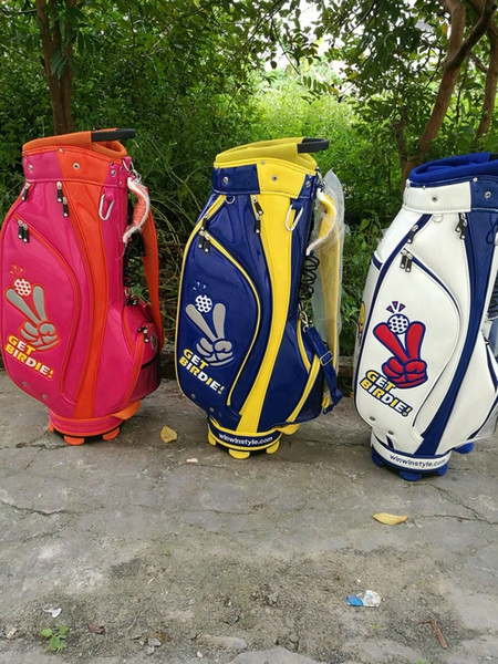 Wholesale-golf Staff Bag Winwin Golf Cart Bag 3color Can Mix Bag Color With Golf Bag Cover Ems Free Shipping