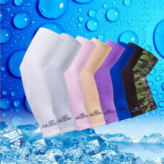 Wholesale Hicool Golf Arm Sleeves Sun Shelter Uv Protector Sports Cycling Summer Arm Warmers 7 Colors