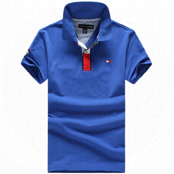 Wholesale International Brand 2016 Men's Brand Polo Shirt Polos Men's Short Sleeve Casual Shirt Polo Suit Golf Classic Style Free Shipping