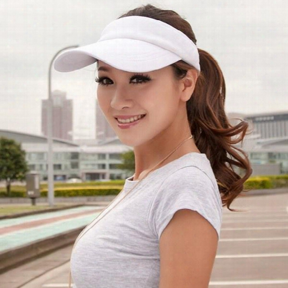 Wholesale-stylish Adjustable Unisex Cotton Sun Visor Caps Baseball Golf Tennis Sports Caps