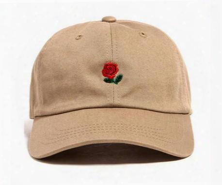 2016 Popular Rare The Pop Cap Brand Hundreds Rose Strap Back Cap Men Women Adjustable 6 Panel Golf Polos Snapback Baseball Hats