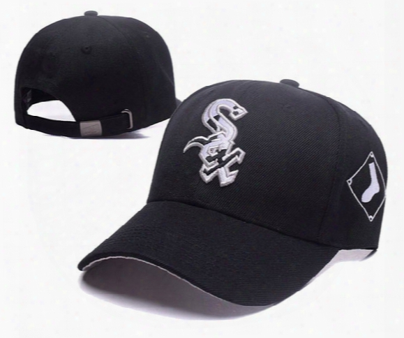 2017 New Men's Chicago White Sox Snapback Hats Sox Letter Embroidery Sports Adjustable Baseball Caps Fashion Golf Visor Strapback Hat