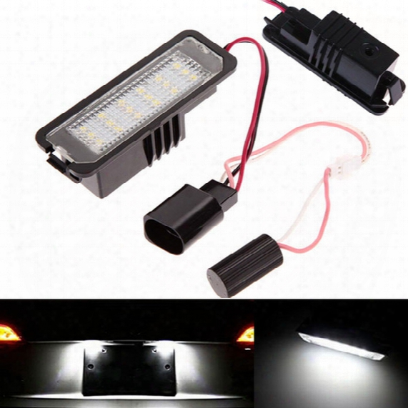 2x 18 Led Error Free Auto Light Number License Plate Light Bulbs Tail Light Fit For Vw Gti Golf 4/5/6 Passat Scirocco Mk4/5/6