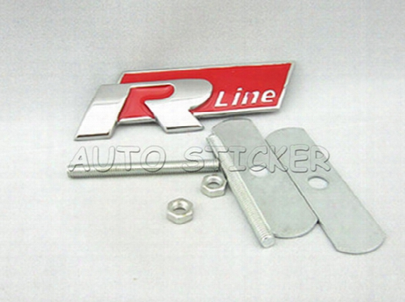 Car Styling R Racing Sr Rline Car Front Grille Emblem Stic Ker For Volkswagen Jetta Mk5 Mk6 Polo Golf Cc Touareg Tiguan Passat Scirocco