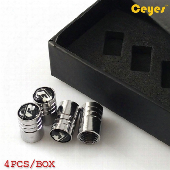 Car Wheel Tire Valves R Emblems Badge Tyre Stem Air Caps For Volkswagen Wrc Golf R Polo Car Accessories Styling