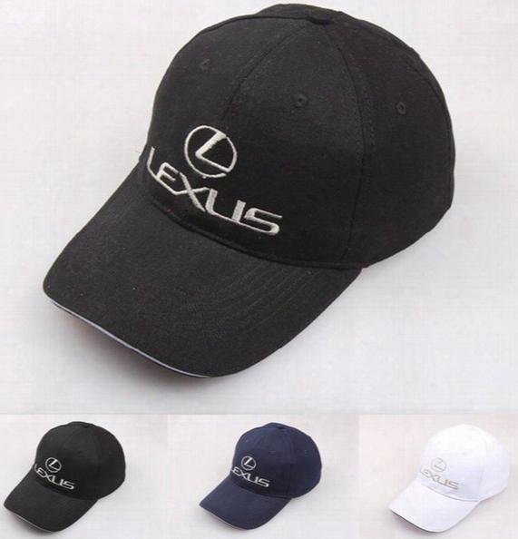 For Lexus Full Cottom Baseball Cap Unisex Racing Emblem Embroidery Letter Cap F1 Adjustable Snapback Golf Hat Outdoor Sport Advertising Cap