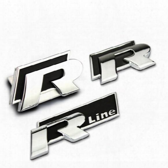 High Quality Car Metal Decoration Emblem R/r Line 3d Sticker For Volkswagen Vw Golf 6 Golf 7 Jetta Mk5 Mk6 Polo Passat B5 B6 B7