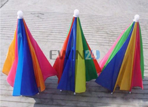 Multi Colour Novelty Umbrella Hat Brolly For Golf Fishing Hunting Head Cap New And Oht Selling