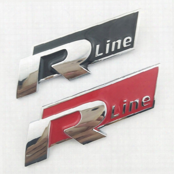 Otokit 3d Metal R Line Logo Car Grill Badge Emblem Sticker For Volkswagen V W Polo Golf 5 6 7 Jetta Mk5 Mk6 Polo Passat B5 B6 B7