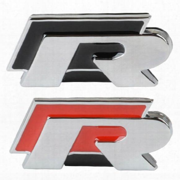 R Car Grille Emblem Metal 3d Badge Logo Stickers For Vw Jetta Magotan Cc Golf Polo Golf 6 Passat B4 B6 Lavida Car Styling