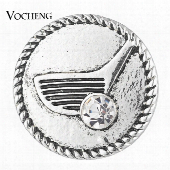 Vocheng Noosa Ginger Snap Button Golf Club With Crystal 18mm Sports Charms Vn-1742