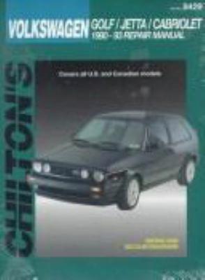 Volkswagen: Golf/jetta/cabriolet 1990-93