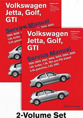 Volkswagen Jetta, Golf, Gti (a4) Service Manual: 1999, 2000, 2001, 2002, 2003, 2004, 2005: 1.8l Turbo, 1.9l Tdi Diesel, Pd Diesel,
