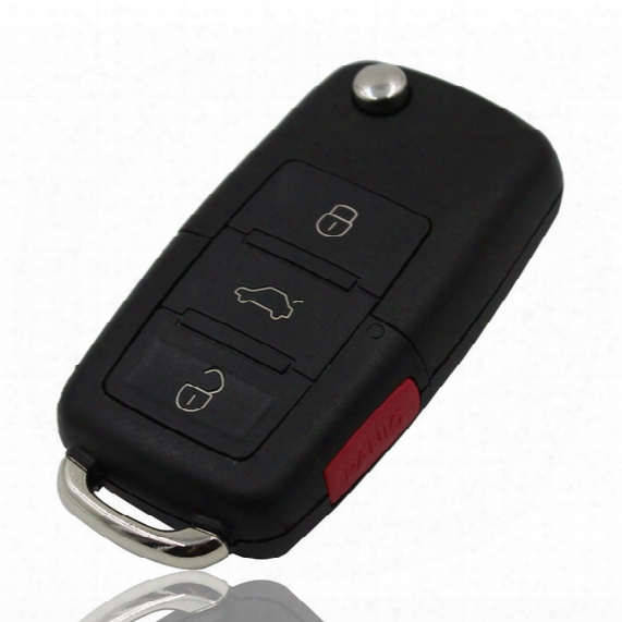 Vw Polo Passat B5 B6 Golf 4 5 6 Touran Bora Jetta 3+1 4 Buttons Replacement Car Key Shell With Red Panic Button