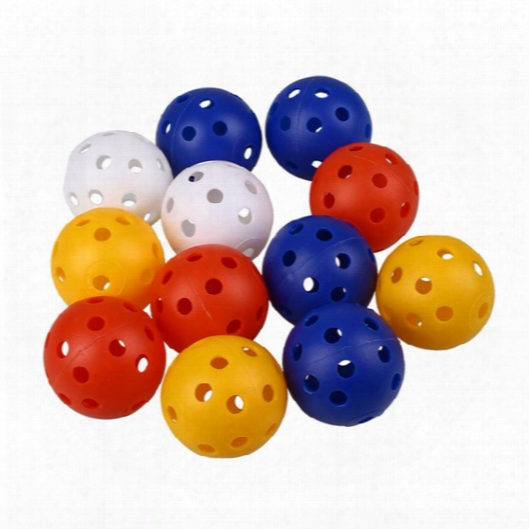 Wholesale- Hot Sale Top Quality 50pcs 4cm Plastic Whiffle Airflow Hollow Golf Practice Training Sports Balls Golf Accessories