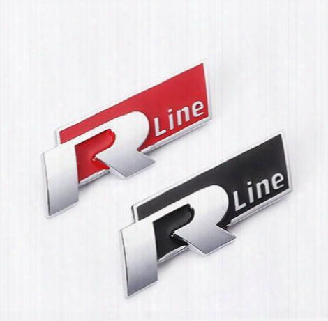 Yawlooc 1 Pc Rline Metal Car Stickers Emblem For Vw Volkswagen Golf 5 6 7 Mk6 Mk7 Passat B5 B6 B7 Tiguan Polo R Line Car Styling