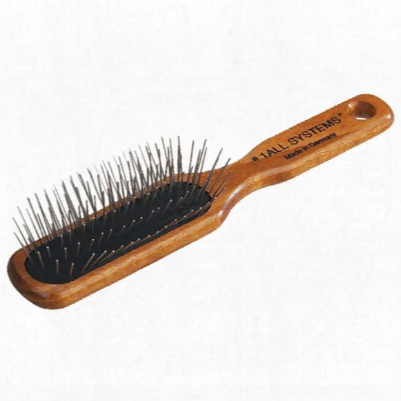 #1 All Systems Oblong Pin Brush - Wooden Handle
