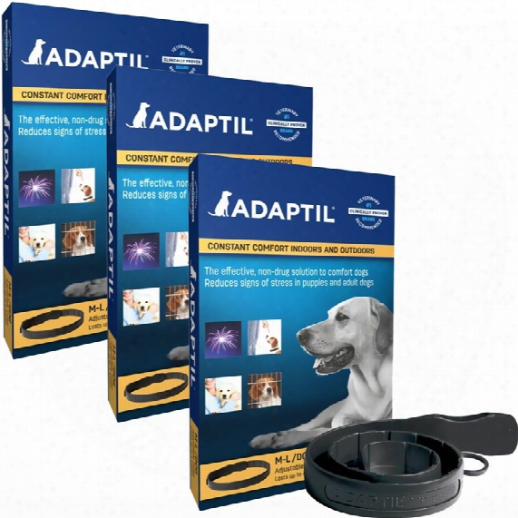 3 Pack Adaptil (dap) Collar For Medium & Large Dogs