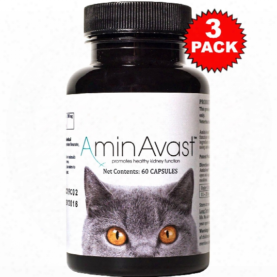 3-pack Aminavast Kidney Support Forr Cats (180 Capsules)