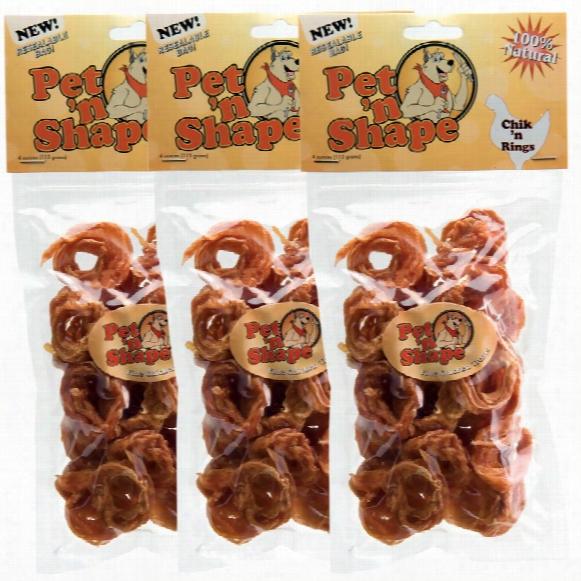 3 Pack Pet 'n Shape Chik 'n Rings - 12oz