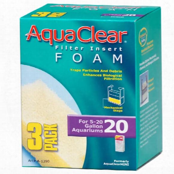 Aquaclear 20 Filter Insert Foam (3 Pack)