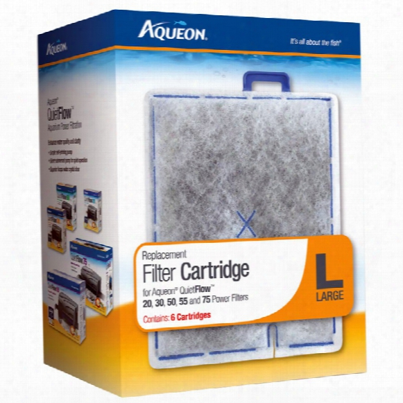 Aqueon Replacement Fiilter Cartridges Large (6 Pack)