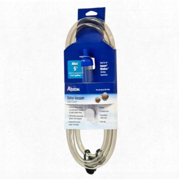 """Aqueon Siphon Vacuum Aquarium Gravel Cleaner 5"""""""