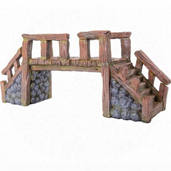 "Biobubble Decorative Wood Bridge - Large (16"" X 5.25"" X 7"")"