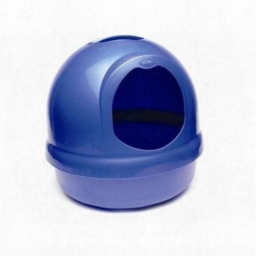 Booda Dome Covered Cat Litter Box Dark Blue ^