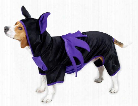 Casual Canine Bat Dog Costume Purple