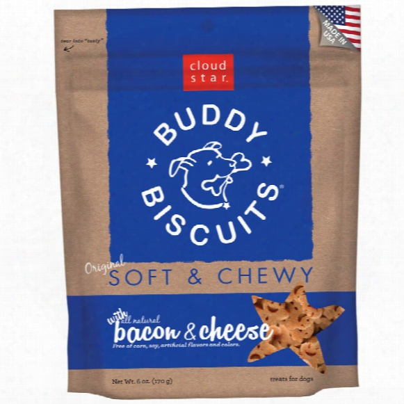 Cloud Star Buddy Biscuits Soft & Chewy Dog Treats - Bacon & Cheese Flavor (6 Oz)