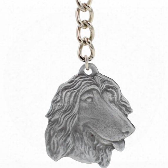 """Dog Breed Keychain Usa Pewter - Afghan Hound (2.5"""")"""