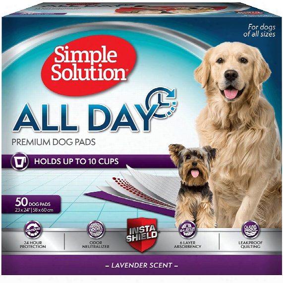 "Simple Solution All Day Premium Dog  Pads - 50 Pad Pack (23""x24"")"