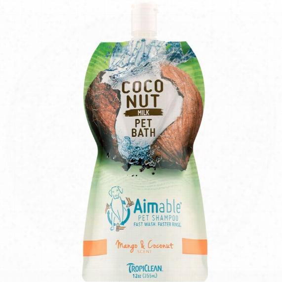 Tropiclean Aimable Pet Shampoo - Mango & Coconut Scent (12 Oz)