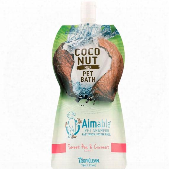 Tropiclean Aimable Pet Shampoo - Sweet Pea & Coconut Scent (12 Oz)