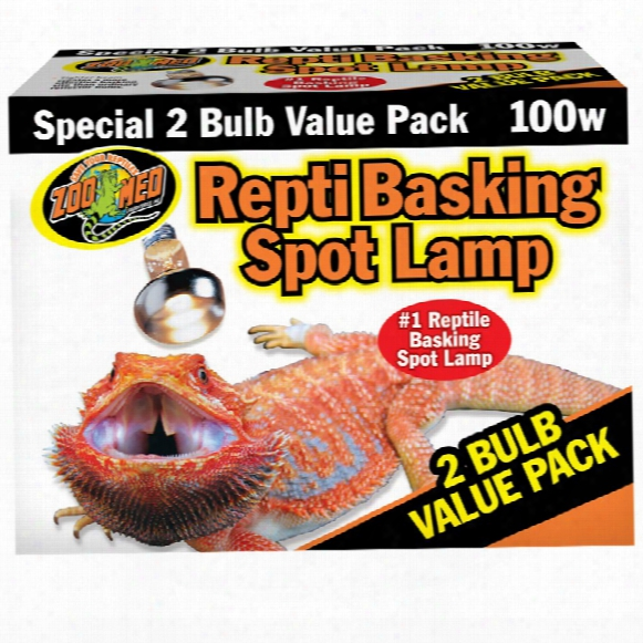 Zoo Med Repti Basking Sp0t Value Pack 100 Watts (2 Pack)