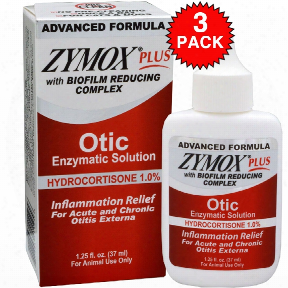 3-pack Zymox Plus Otic-hc Enzymatic Solution (3.75 Oz)