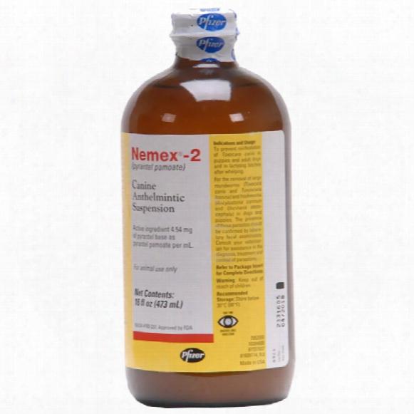 Nemex-2 Oral Liquid Dog Wormer By Zoetis (16 Oz / Pint)