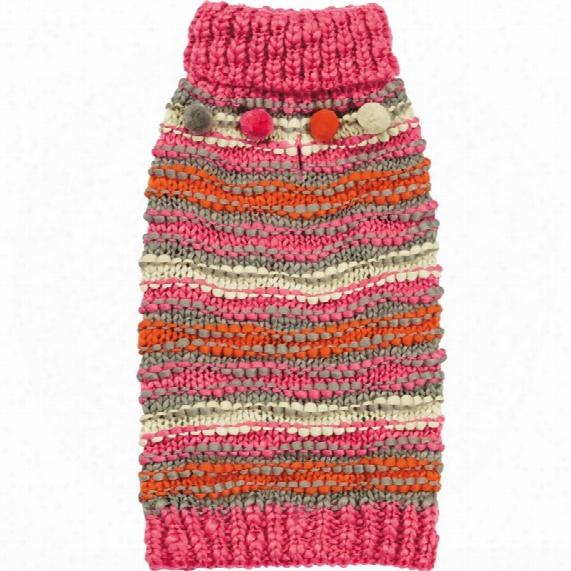 Zack & Zoey Elements Chunky Pompom Sweater - Large
