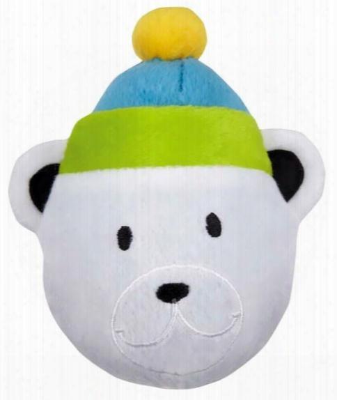 Zanies North Pole Pals Squeaker Ball - Bear