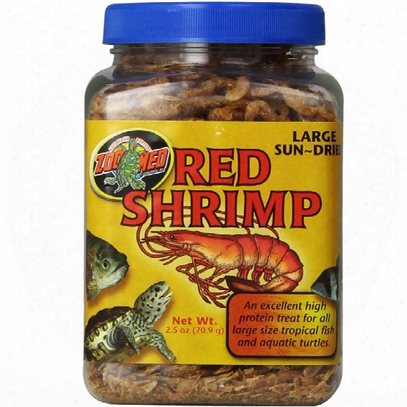 Zoo Med Large Sundried Red Shrimp (2.5 Oz)