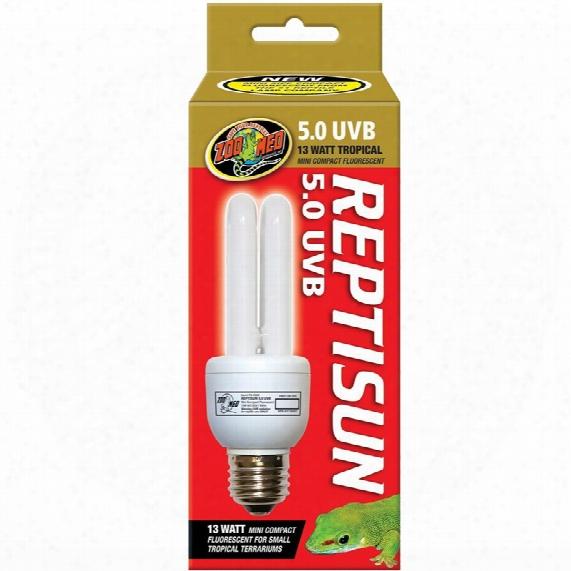 Zoo Med Reptisun 5.0 Uvb Mini Compact Fluorescent (13 Watts)