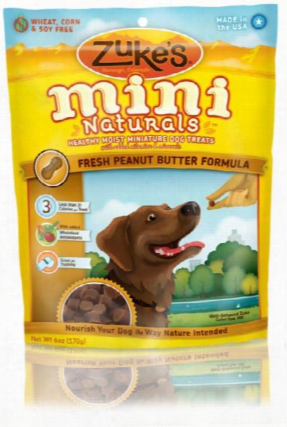 Zuke's Mini Naturals Moist Miniature Treats For Dogs - Peanut Butter (6 Oz)