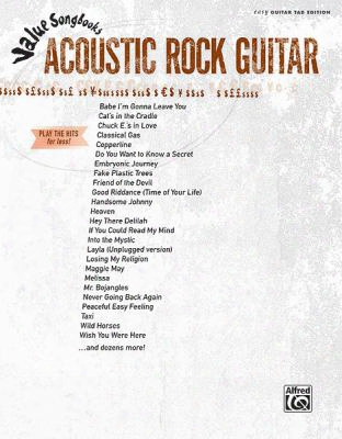 Value Songbooks - Acoustic Rock Guitar: Play The Hits For Less! (easy Guitar Tab)